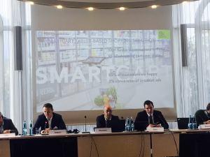 2018 Wirtschaftspanel mit Oleg Demidov, Benjamin Wilkening und Vasiliy Geist (lvon links nach rechts)